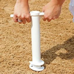 Sunnydaze Beach Umbrella Anchor Stand, Outdoor Sand Auger Sc