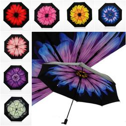 Beautiful HQ Two Layer Sun Block and Rain Protection Floral