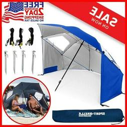 BEST HUGE Beach Umbrella Sun Tent Family Pool Camping,Sports