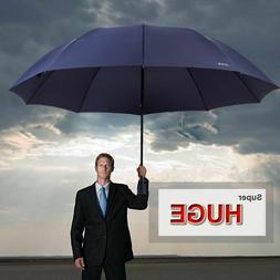 Big Umbrella Folding Rain Sun Windproof Resistant Golf Autum