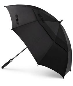 Black 62'' Golf Umbrella Oversize Automatic Open Extra Large
