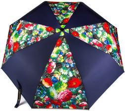 Black Folding Umbrella Automatic Strong Windproof Light Comp
