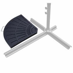 Black Patio Umbrella Base Extra Weights Outdoor Table Pole R