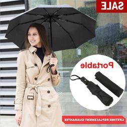 Black Travel Rain Automatic Umbrella Auto Open Close Windpro
