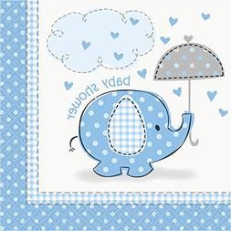 Blue Elephant Baby Shower Beverage Napkins
