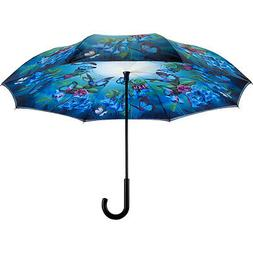 Galleria Bluebells Reverse Close Umbrella - Bluebells Umbrel
