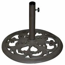 TropiShade 30-Pound Bronze Powder-Coated Cast Iron Umbrella