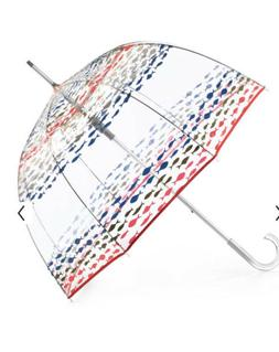 Totes Bubble Rain Umbrella Dome Transparent Fashion Colorful