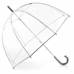 Totes Women's Clear Bubble Dome Umbrella Transparent Fashion