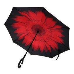 C Handle Hands-Free Inverted Umbrella for Women Men Acceswso