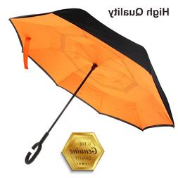 C Shape Handle Umbrella Brolly Sun UV Rain Protector,Sturdy,