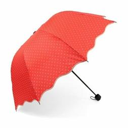 Canopy Umbrella with Hearts Pattern