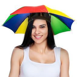 UMBRELLA HAT CAP - Rain Sun Shade Sports Beach Fishing - Kid