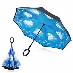 Amagoing Car Inverted Umbrella Double Layer Windproof Revers