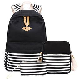 Abshoo Causal Canvas Stripe Backpack Cute Lightweight Teen B