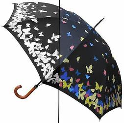 "46"" Color Changing Butterfly, Auto Umbrella - RainStoppers R"