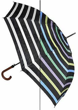 New RainStopper Color Changing Stripe Stick Umbrella