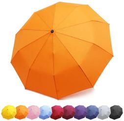 CHC- Zomake Travel Umbrella, 10 Ribs Windproof Compact Umbre