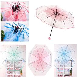 Cherry Blossom Transparent Clear Umbrella Umbrella Pink for