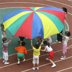 kids rainbow umbrella parachute outdoor sport exercise