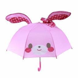 Children's Cartoon Umbrella Boys Girls Anime Pop-up Ear Dome