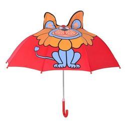 Childrens 3D Rain Umbrella Fashion Cartoon Lion design for B