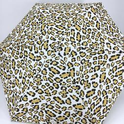 Cirra By ShedRain Leopard Print Mini Manual Compact Umbrella