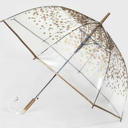 Cirra by ShedRain Bubble Umbrella, Clear/Gold