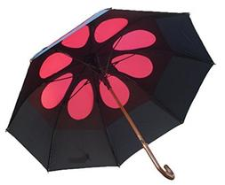GustBuster Classic 48-Inch Automatic Golf Umbrella, Red Stor