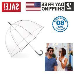 Totes Clear Bubble Dome Umbrella Transparent Fashion Large W