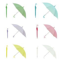 Portable Transparent Clear Rain Umbrella Parasol PVC Dome We