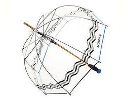 Vinrella - Clear Bubble Umbrella, Wave with Blue Ball