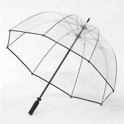CLEAR Dome Bubble Golf Umbrella With Black Trim