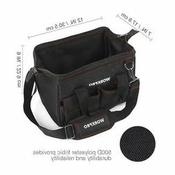 Workpro 12-inch Close Top Wide Mouth Storage Tool Bag