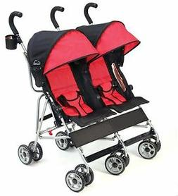 Kolcraft Cloud Double Umbrella Stroller Scarlett Red