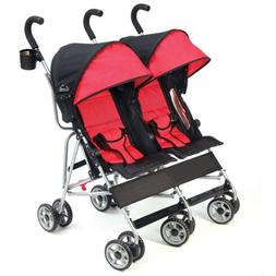 Kolcraft Cloud Double Umbrella Stroller, Scarlett Red