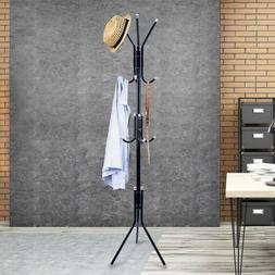 Coat Hat Stand Rack Tree Clothes Hanger Umbrella Holder Meta