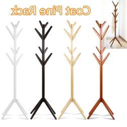 Coat Rack Hat Stand Tree Clothes Hanger Umbrella Holder Soli