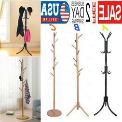 Coat Rack Tree Stand Clothes Holder Hat Hanger Hall Stand Um