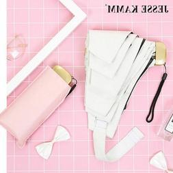 Compact Five Folding Umbrella Pocket Travel Light Backpack H