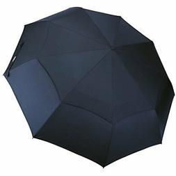 G4Free Compact Folding Golf Umbrella Blue Windproof Travel U
