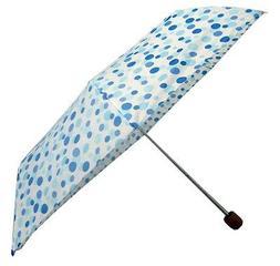 Compact Umbrella, Folding Umbrella, Yelllow polka dot umbrel