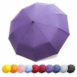 ZOMAKE Compact Travel Umbrella, 10 Ribs Windproof Umbrella