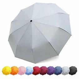 ZOMAKE Compact Travel Umbrella, 10 Ribs Windproof Umbrella w