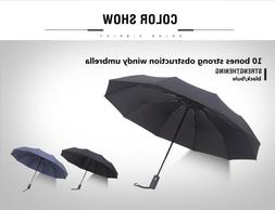 compact travel umbrella, folding automatic windproof repel u
