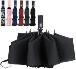 LANBRELLA Compact Travel Umbrella Windproof Auto Open Close