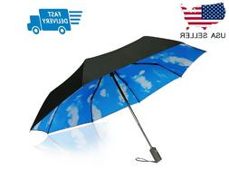Compact Travel Umbrella - Windproof, Reinforced, Ergonomic H
