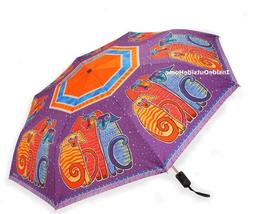 Laurel Burch Compact Umbrella Canine Friends Auto Open Close