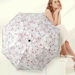 Compact Umbrella Sun Anti UV 3 Folding Rain Parasol Windproo