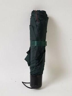 Compact Waterproof Polyester Umbrella Black/Green